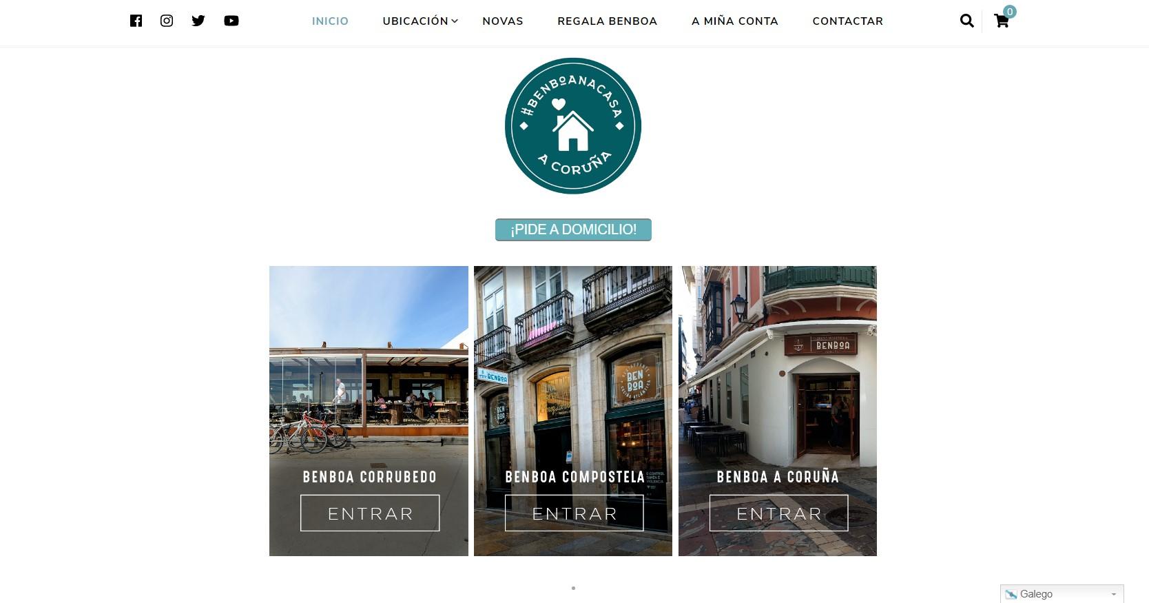 Web Restaurante Benboa